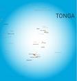 Tonga map vector image