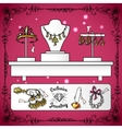 Jewelry Shop Display vector image