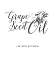 Grape seed oil vector image