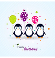Template birthday greeting card scrap vector image vector image