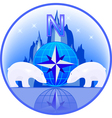 north pole polar bears vector image vector image