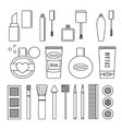 Make up and cosmetics set vector image