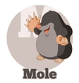 ABC Cartoon Mole vector image
