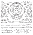 Calligraphic Royal Design Elements Frames vector image