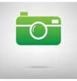 Camera Green icon with shadow vector image