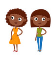color cute cartoon african vector image