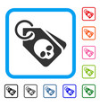 death skull tags framed icon vector image