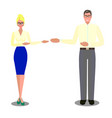 flat isolated business people vector image