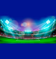 night sports stadium with lights vector image