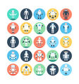 Robots Colored Icons 1 vector image