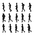 Running men and women Silhouette collection vector image