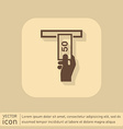 symbol issuing or receiving money from an ATM vector image