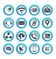 connection and communication icons set vector image vector image