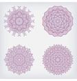 set decorative pattern vector image