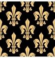Golden floral heraldic seamless pattern vector image
