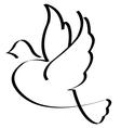 Bird symbol isolated vector image