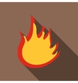 Fire icon flat style vector image