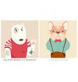 French Bull Dog and Bullterrier Cartoon vector image