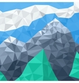 Mountain landscape mosaic in the summer vector image