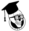 old student vector image