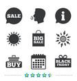sale speech bubble icons buy cart symbol vector image