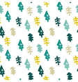 Seamless christmas tree pattern in flat style vector image