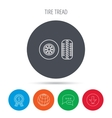 Tire tread icon Car wheel sign vector image