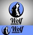 wolf emblem vector image