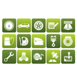 Flat car parts services and characteristics icons vector image vector image