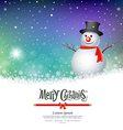 Merry Christmas Snowman Greeting card designs vector image