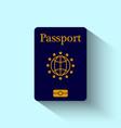 Passport Flat Design vector image