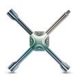 Wheel brace realistic vector image