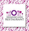 restaurant identity vector image