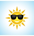 Cute cartoon summer sun icon vector image