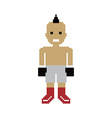pixel people boxer avatar vector image