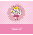 girl with butterfly costume vector image vector image