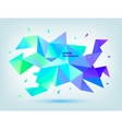 abstract colorful blue purple green vector image