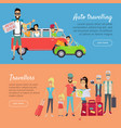 auto traveling and travelers banners vector image