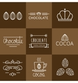 Cocoa Icon set vector image