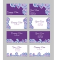 Collection of ornamental business cards vector image