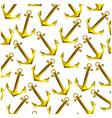 colorful pattern golden anchor design vector image