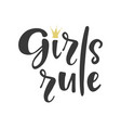 girl rules poster vector image