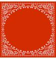red cowboy bandanna vector image