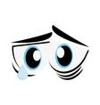 Sad cartoon eyes icon vector image