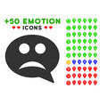 sad smiley message icon with bonus facial set vector image