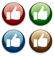 thumbs up buttons vector image