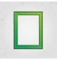 Green modern picture frame vector image