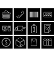 trade icons vector image
