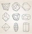 set of geometric crystals vector image