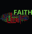the power of faith in your online business text vector image